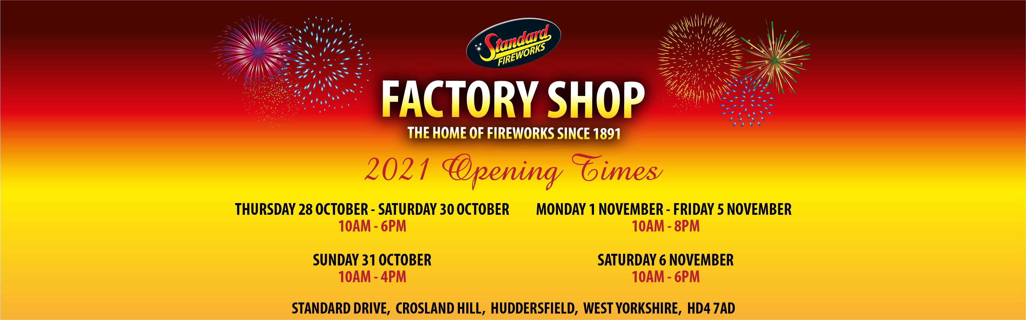 Factory Shop Opening Times